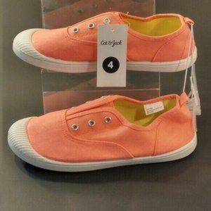 Girls' Mandy Laceless Canvas Sneakers Size…
